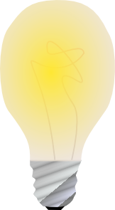 free vector Lightbulb, On clip art