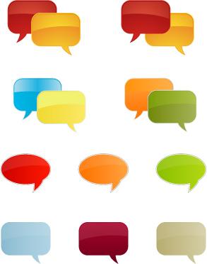 free vector Lightcolored dialogue bubbles vector