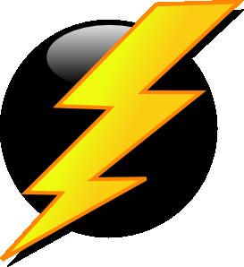 Lightning Icon clip art Free Vector / 4Vector
