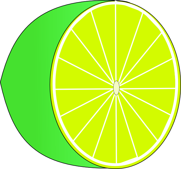 free vector Lime Half clip art
