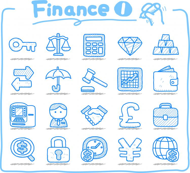 free vector Line art icons vector