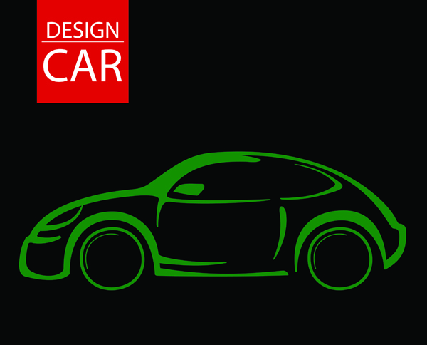 free vector Line drawing car vector