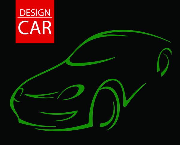 Line Drawing Vector Graphics : Line drawing car vector free 4vector