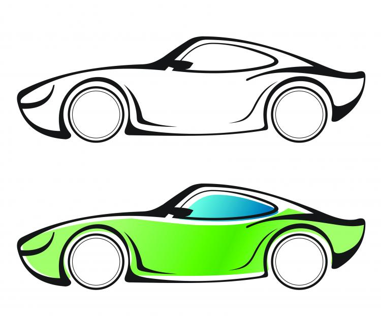 Line Art Design Vector Free Download : Line drawing car vector free