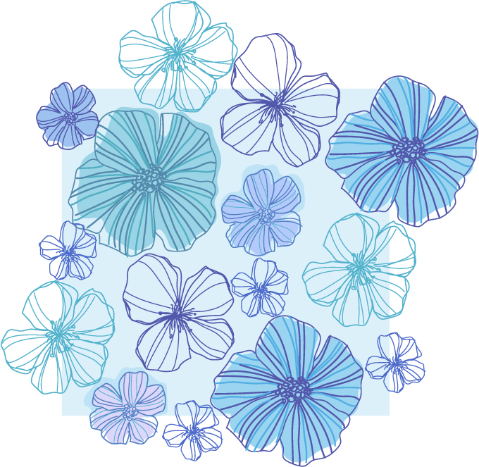 free vector Line drawing flowers vector