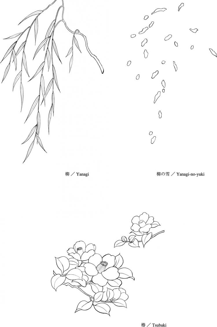 free vector Line drawing of flowers -16
