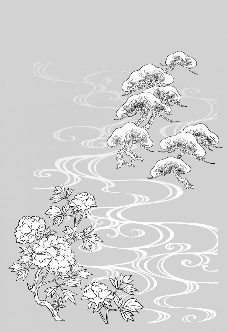 free vector Line drawing of flowers -18