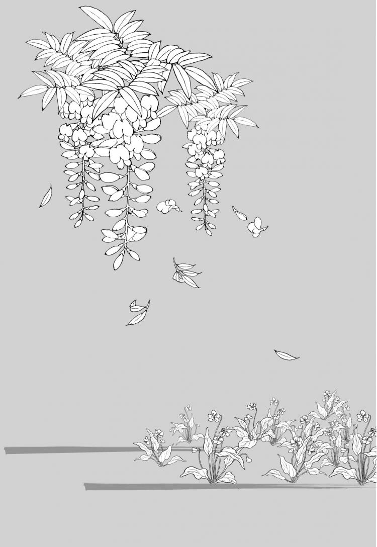 free vector Line drawing of flowers -20