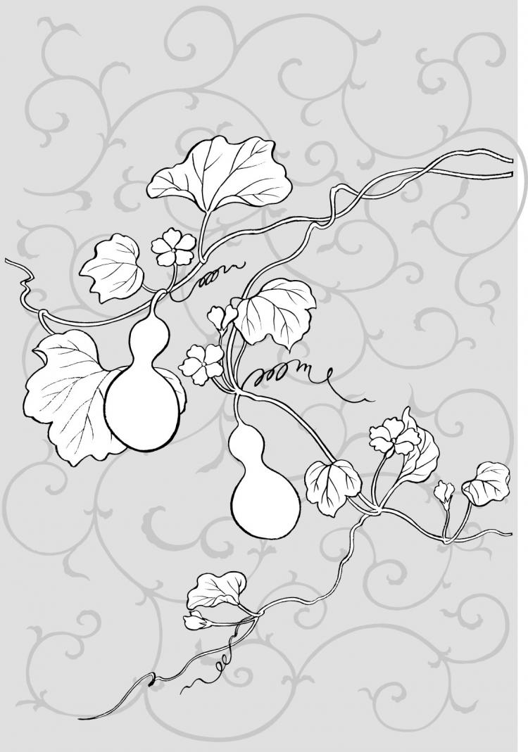 free vector Line drawing of flowers -22