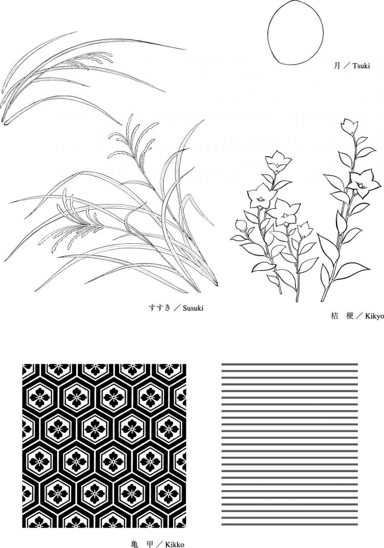 free vector Line drawing of flowers -8