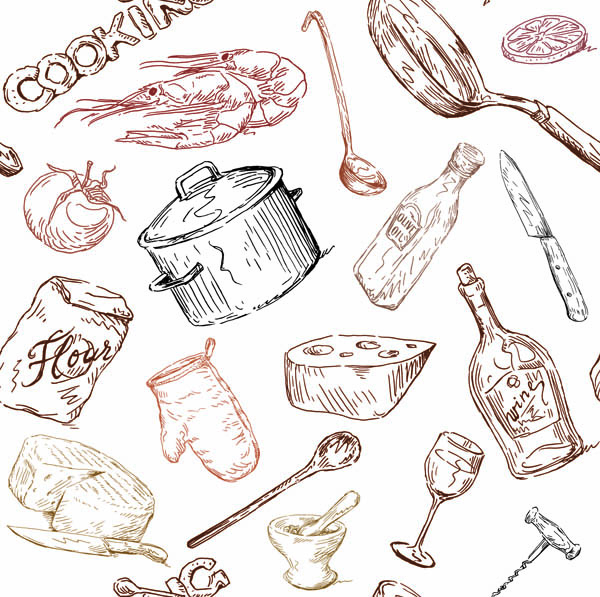 Kitchen Utensils Drawing Kitchen Utensils Drawing E Nongzico