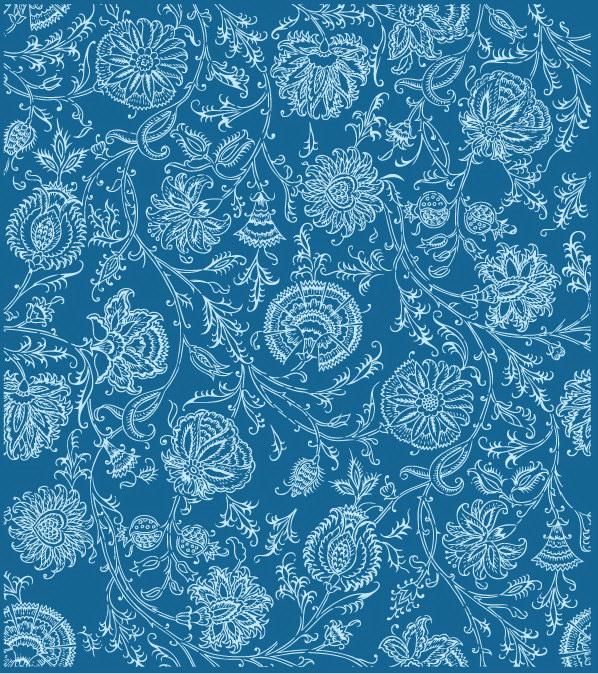 free vector Line flower pattern background vector