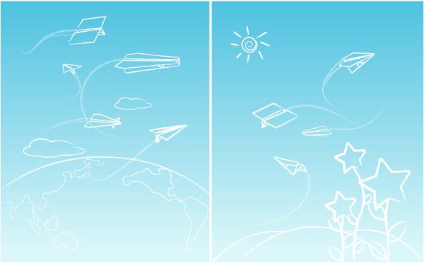 free vector Line paper airplane graffiti vector