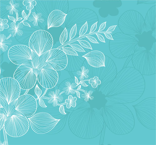 free vector Lines flowers 03 vector