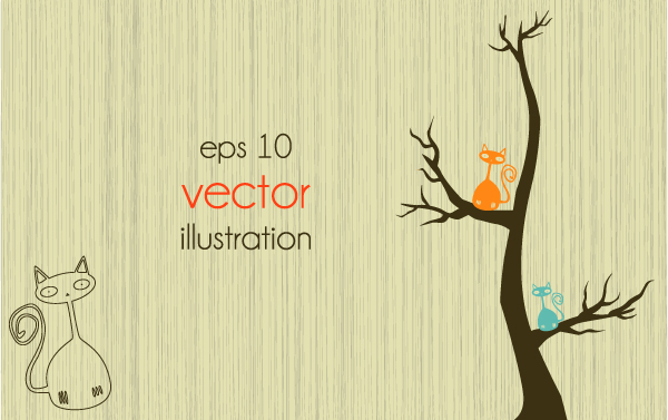 free vector Lines of trees illustrator 04 vector