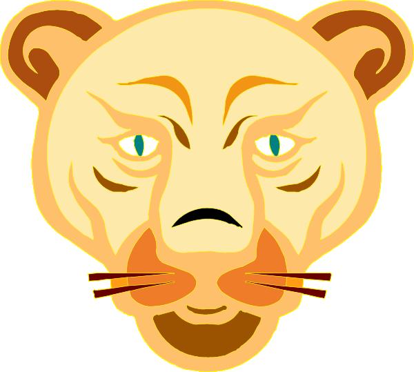 Lion Face Cartoon clip art Free Vector / 4Vector