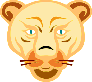 free vector Lion Face Cartoon clip art