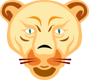 free vector Lion Face clip art