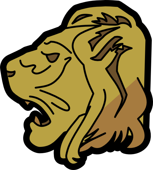 free vector Lion Head clip art