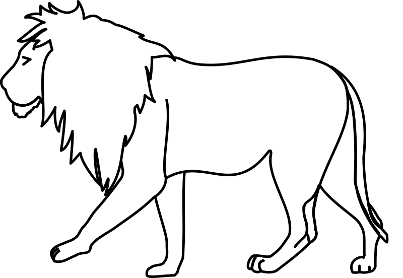 free vector Lion Line Art