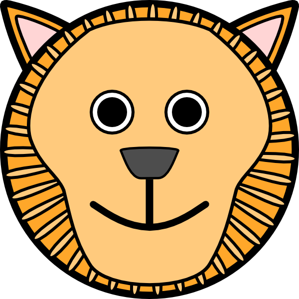 free vector Lion Rounded Face clip art