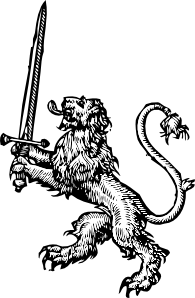 free vector Lion With Sword clip art