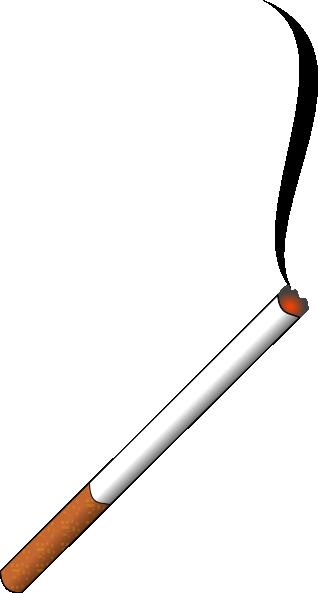 free vector Lit Cigarette clip art