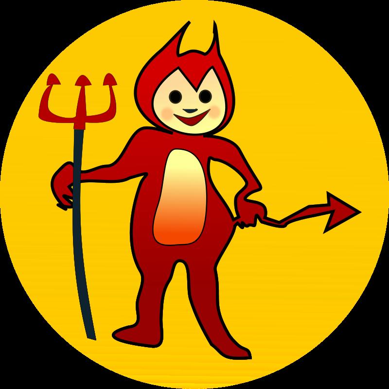 free vector Littel devil icon