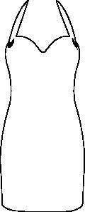 free vector Little Black Dress clip art