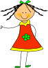 free vector Little Doll clip art