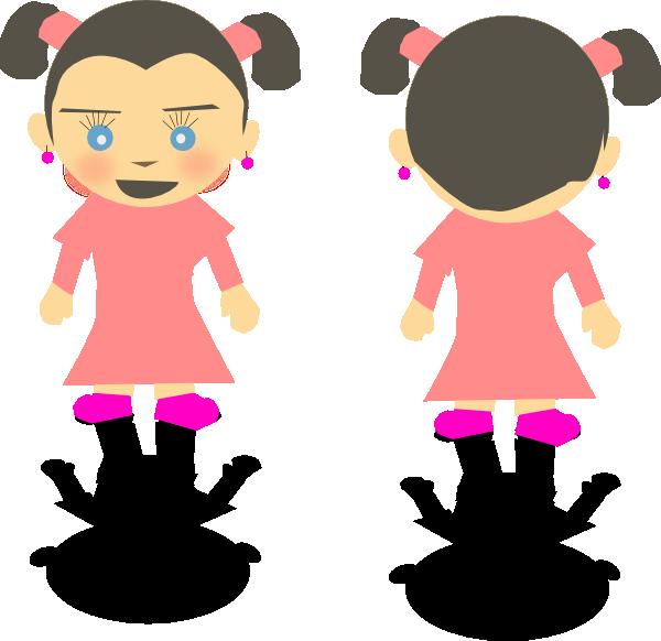 free vector Little Kid Girl Cartoon clip art