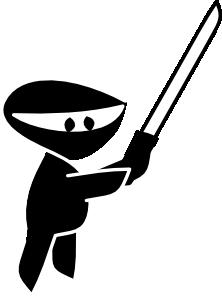 free vector Little Ninja clip art