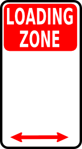 free vector Loading Zone Sign clip art