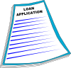free vector Loan Application clip art