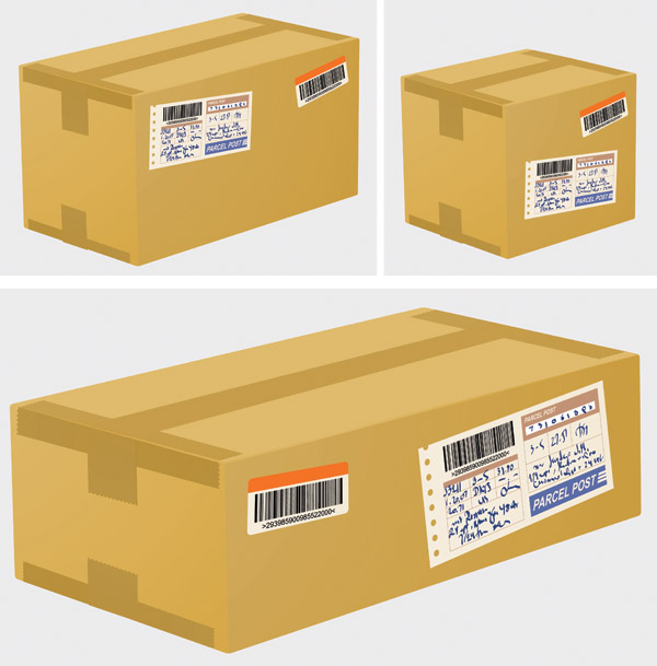 free vector Logistics and express special carton 02 vector
