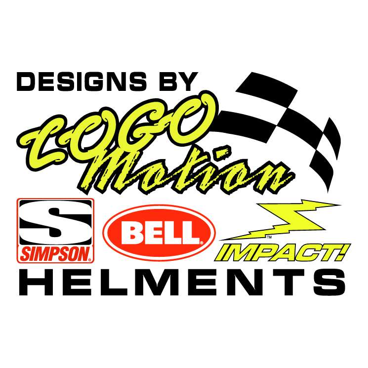 free vector Logomotion helment designs