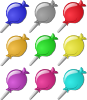 free vector Lollipops clip art