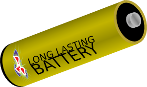 free vector Long Lasting Battery clip art