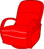 free vector Lounge Chair Red clip art