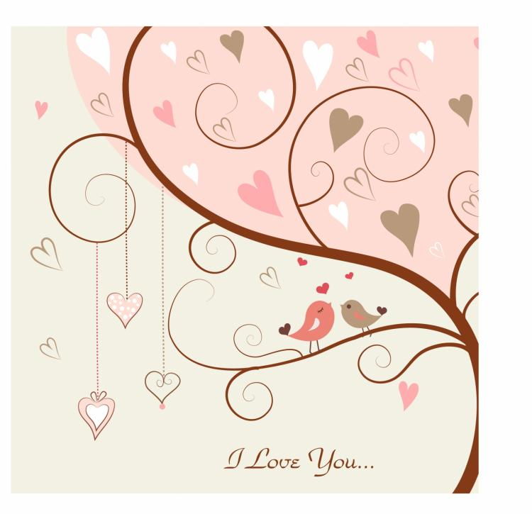 free vector Love bird in the tree