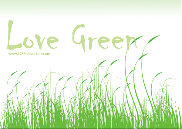 free vector Love Green Vector