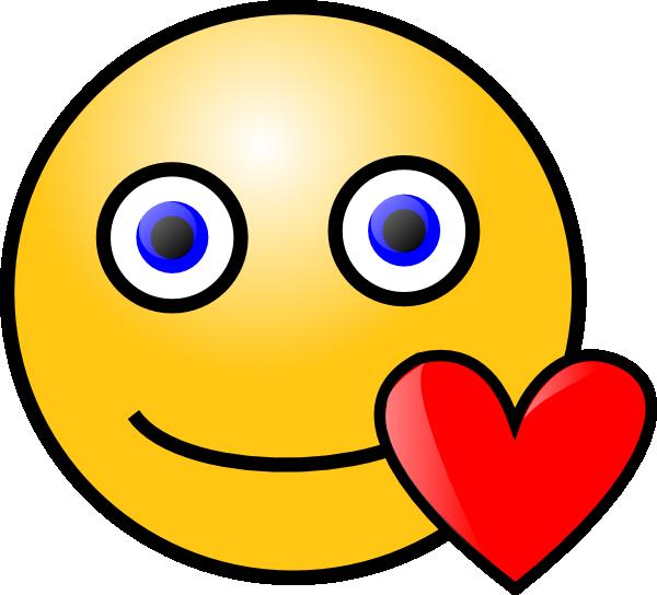 free vector Love Heart Smiley clip art