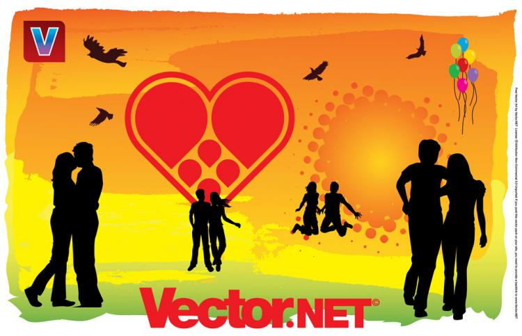 free vector Love is in the Air