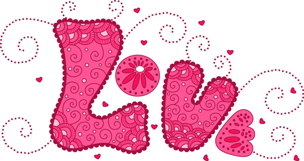 free vector Love love colorful pattern vector