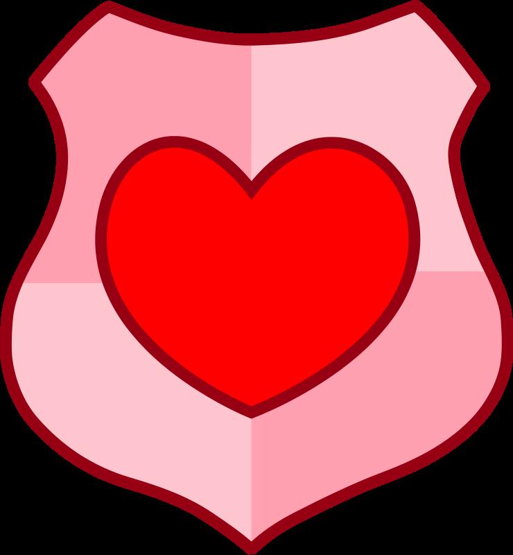 free vector Love shield