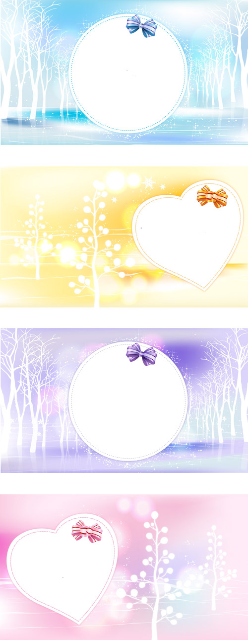 free vector Love the winter vector dream