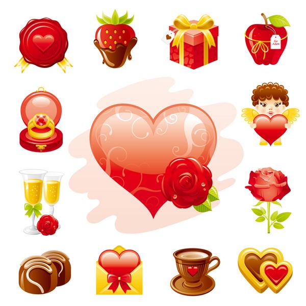 free vector Love theme icon vector