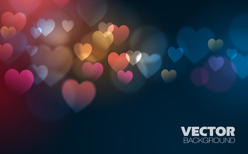 free vector Love vector background dream