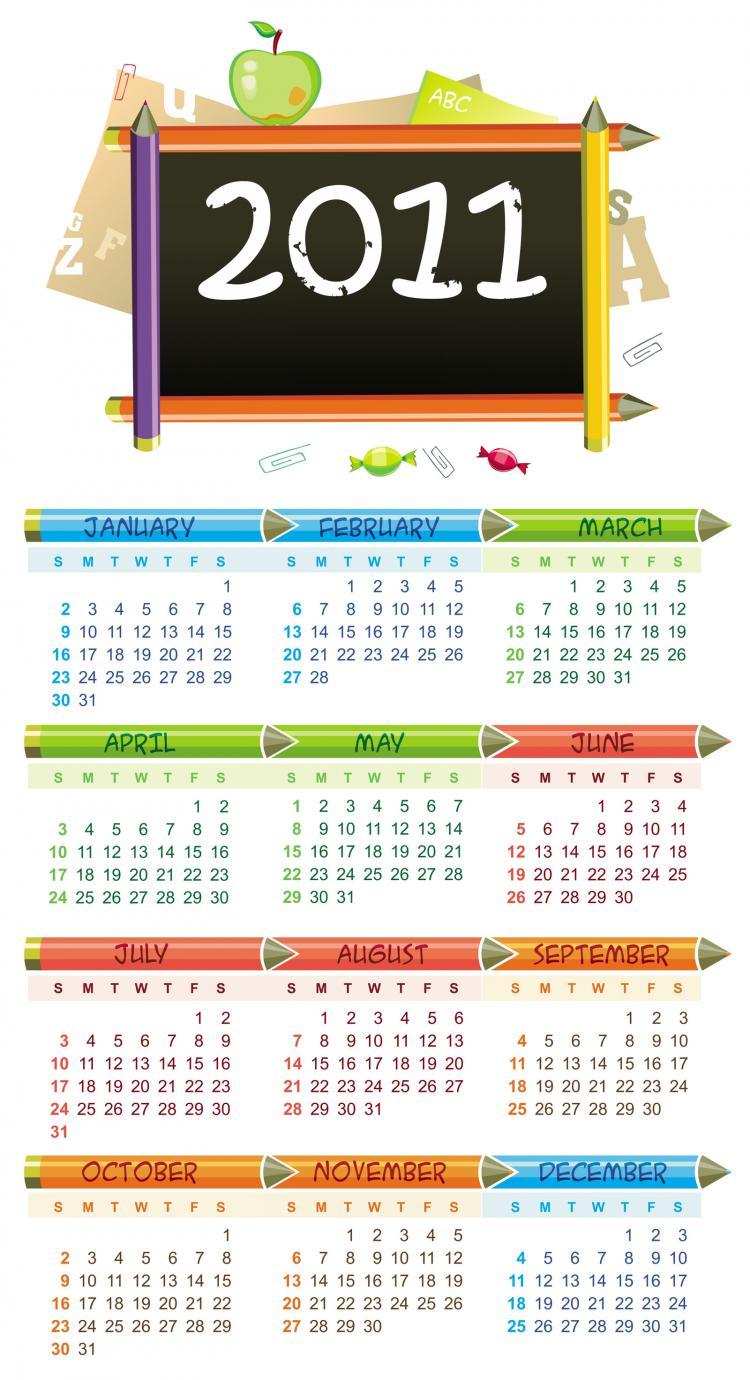 free vector Lovely 2011 calendar vector