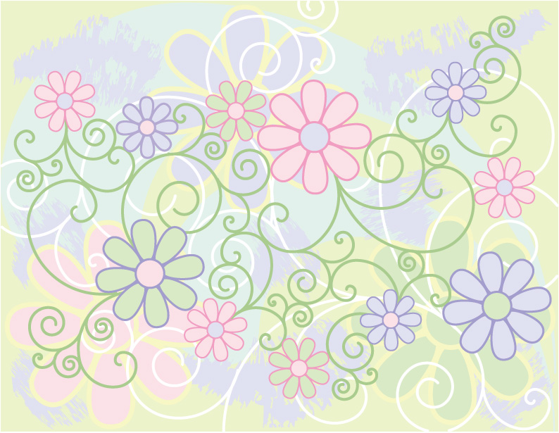 free vector Lovely background pattern vector material